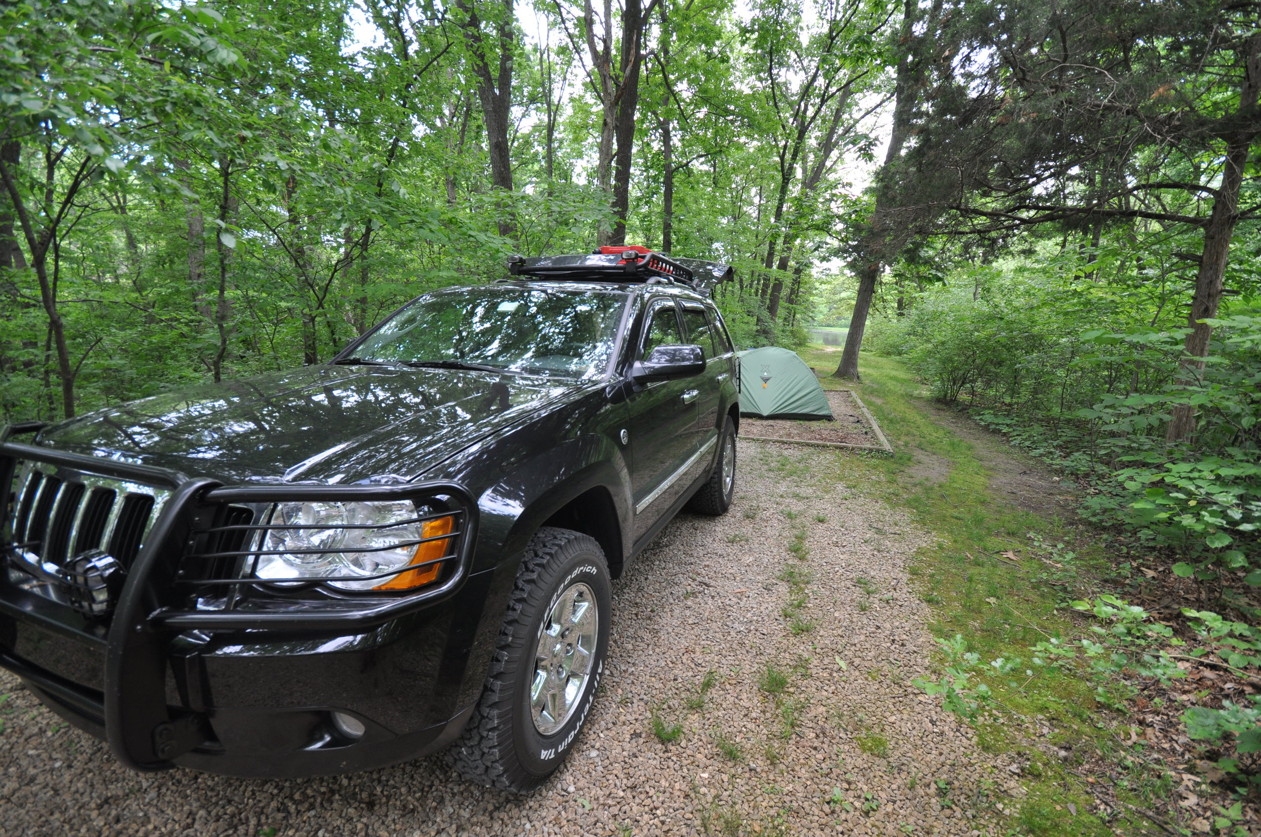 """Swapped out 17"""" Jeep Commander wheels to fit a larger offroad BFG."""
