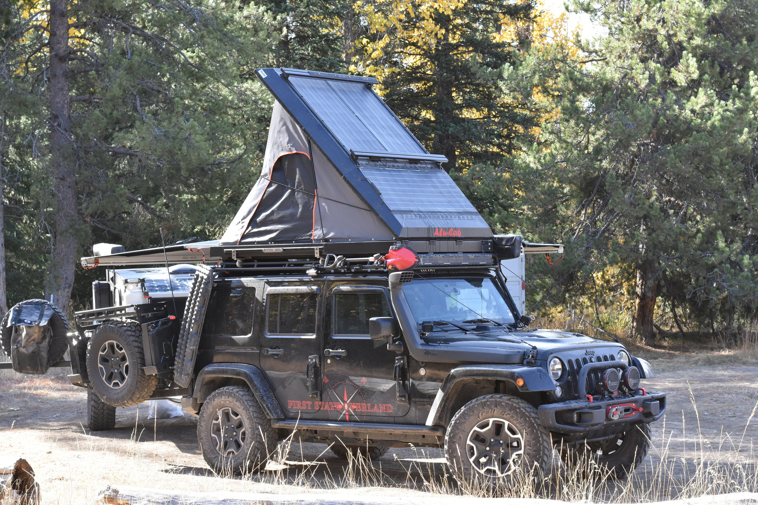 Package Deal - (Side note, if anyone is interested in the entire Jeep + Trailer matching package as a fully functional turn-key off grid rig, contact me and we'll talk about discounting for purchasing both. Jeep has 42,000 miles and is a 2015 Rubicon Hard Rock with solar, RTT fridge, partner stove, water tank, comms, and so much more.)