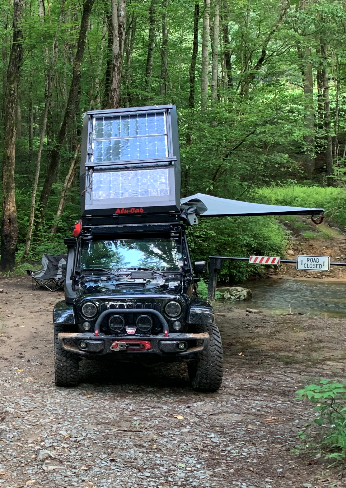 Allpowers solar array - 300W 6/18/19 - on the GA Traverse