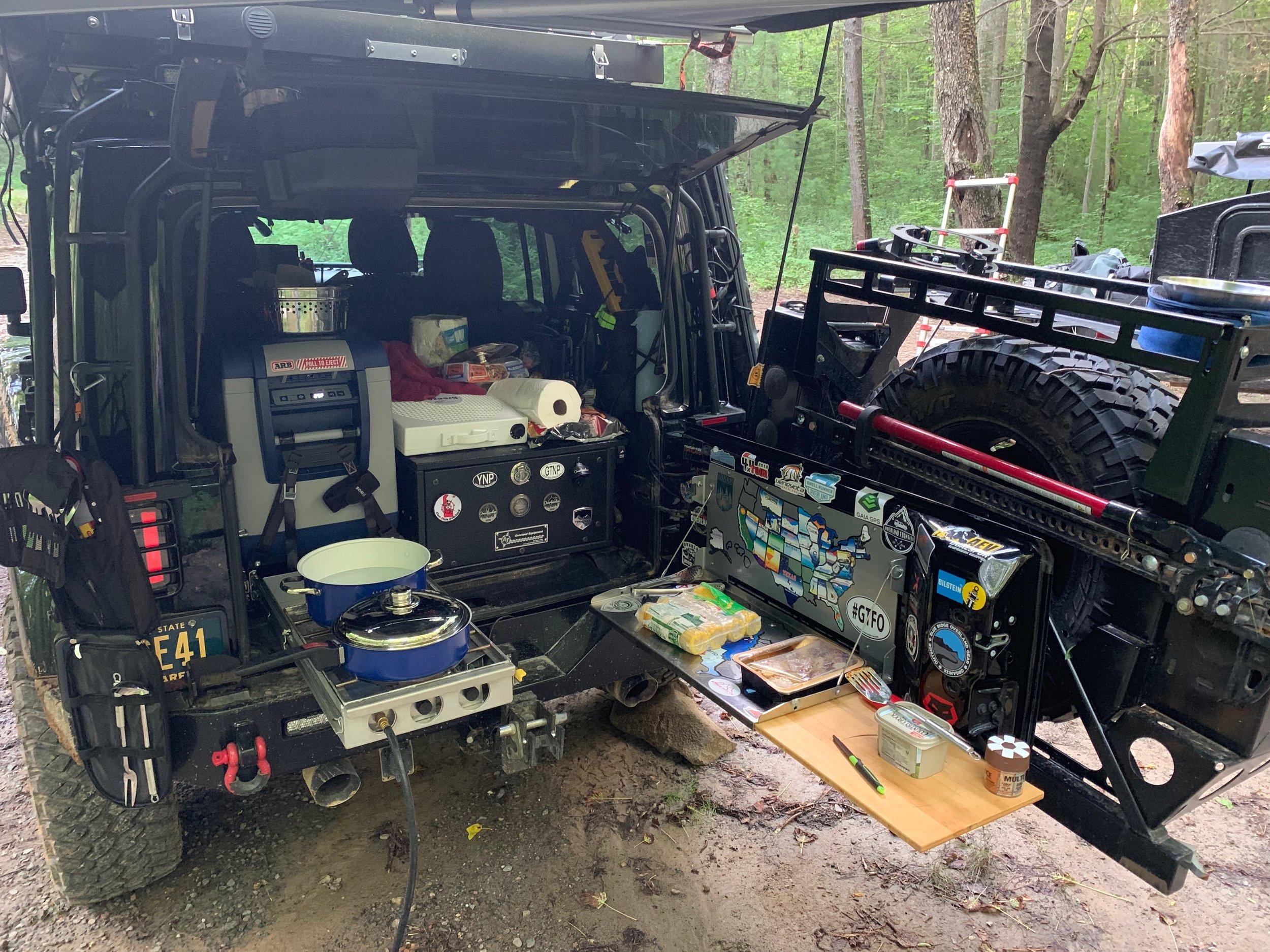 Camp life 6/18/19 - on the GA Traverse