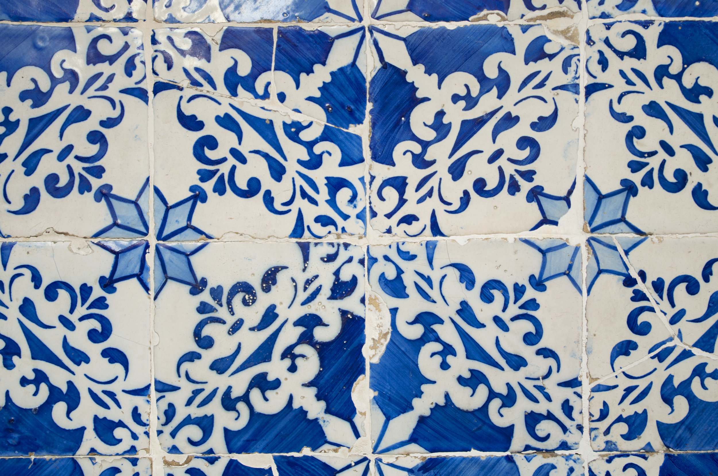 Tiling on the facade of a building in Lisbon