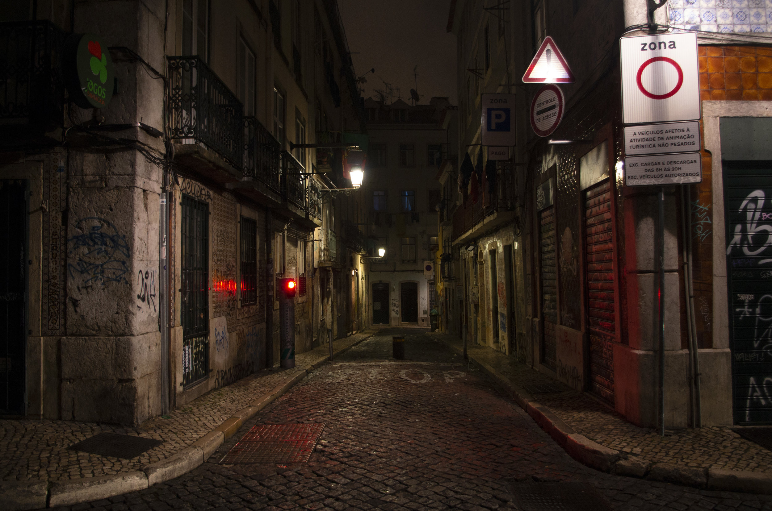 There is nothing quite as captivating as a European street after dark