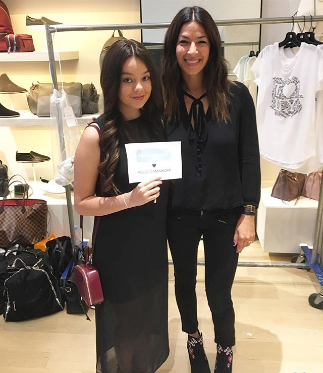 Throwback to that time @mysocialcanvas campus rep Madeline went backstage to  interview @rebeccaminkoff (with @teenvogue) at New York Fashion Week! #mysocialcanvas #designalifeilove #rebeccaminkoff #teenvogue #fashionweek #throwbackthursday