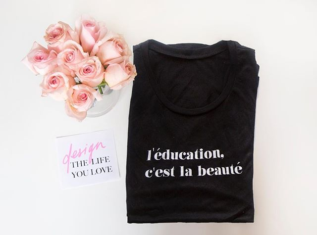 l'éducation. c'est la beauté. 📓✏️ Education is beautiful. What do you think? Learn more about our mission and story. Our website is live! Link in bio.