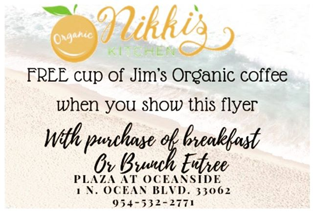 #Wyndamresort Rise and  shine Pompano Beach. Bring your free coffee flyer in today to receive a free cup of Jim's organic coffee with any 🍳 🥘 meal. #LighthousePoint #CoralRidge #FortLauderdale #BrowardChamberOfCommerce #breakfast #BestBreakfastBroward #hillsboromile #Organic eggs #OrganicSpinach #OrganicGreens #FreshJuice #freshorganicceleryjuice ##GreenGoddess #greenthumb #plazaoceanside