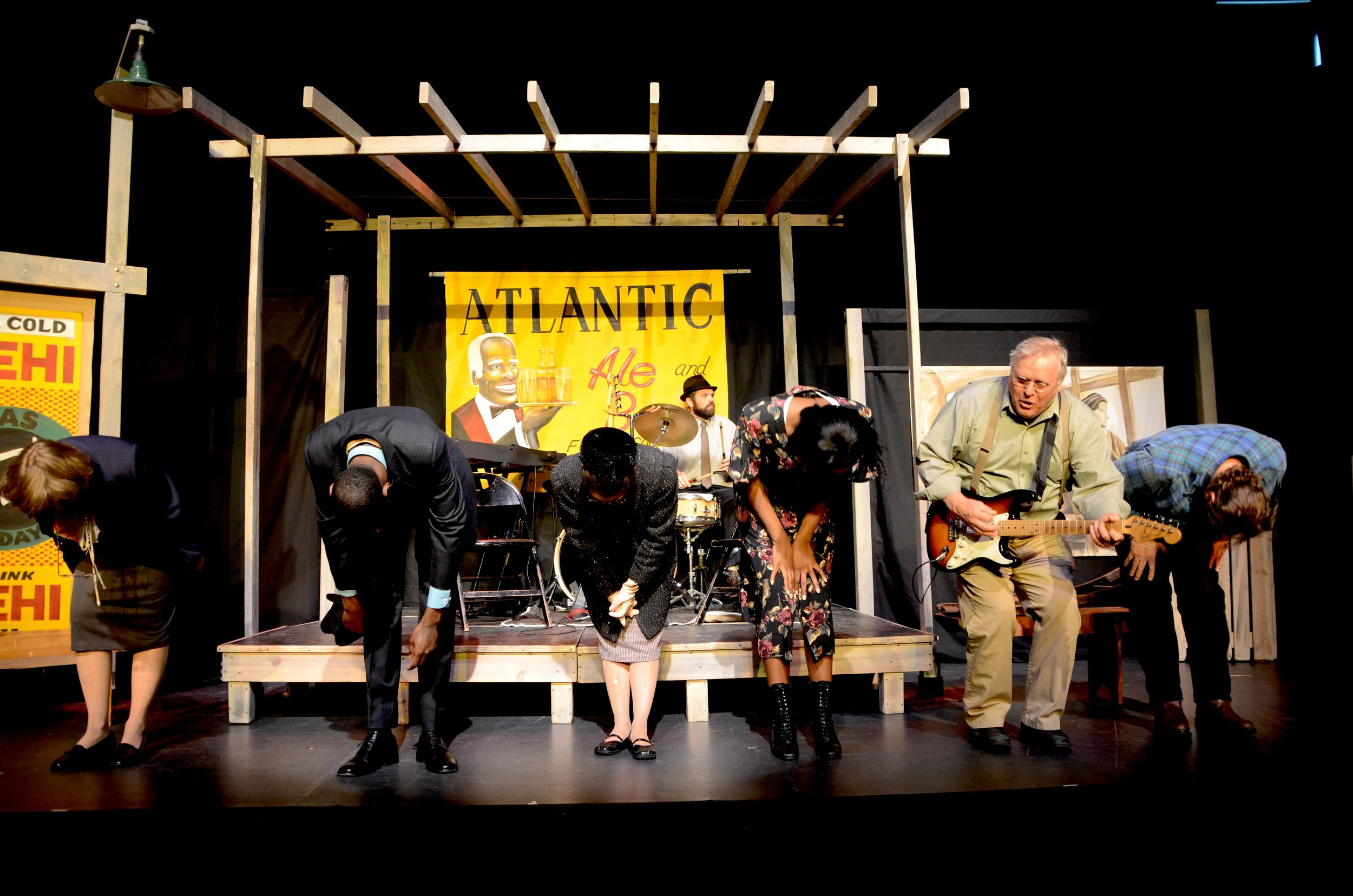 The cast of Walk On takes a bow, Boston, MA