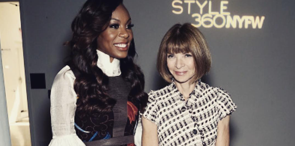 Sonya Richards Ross and Anna Wintour