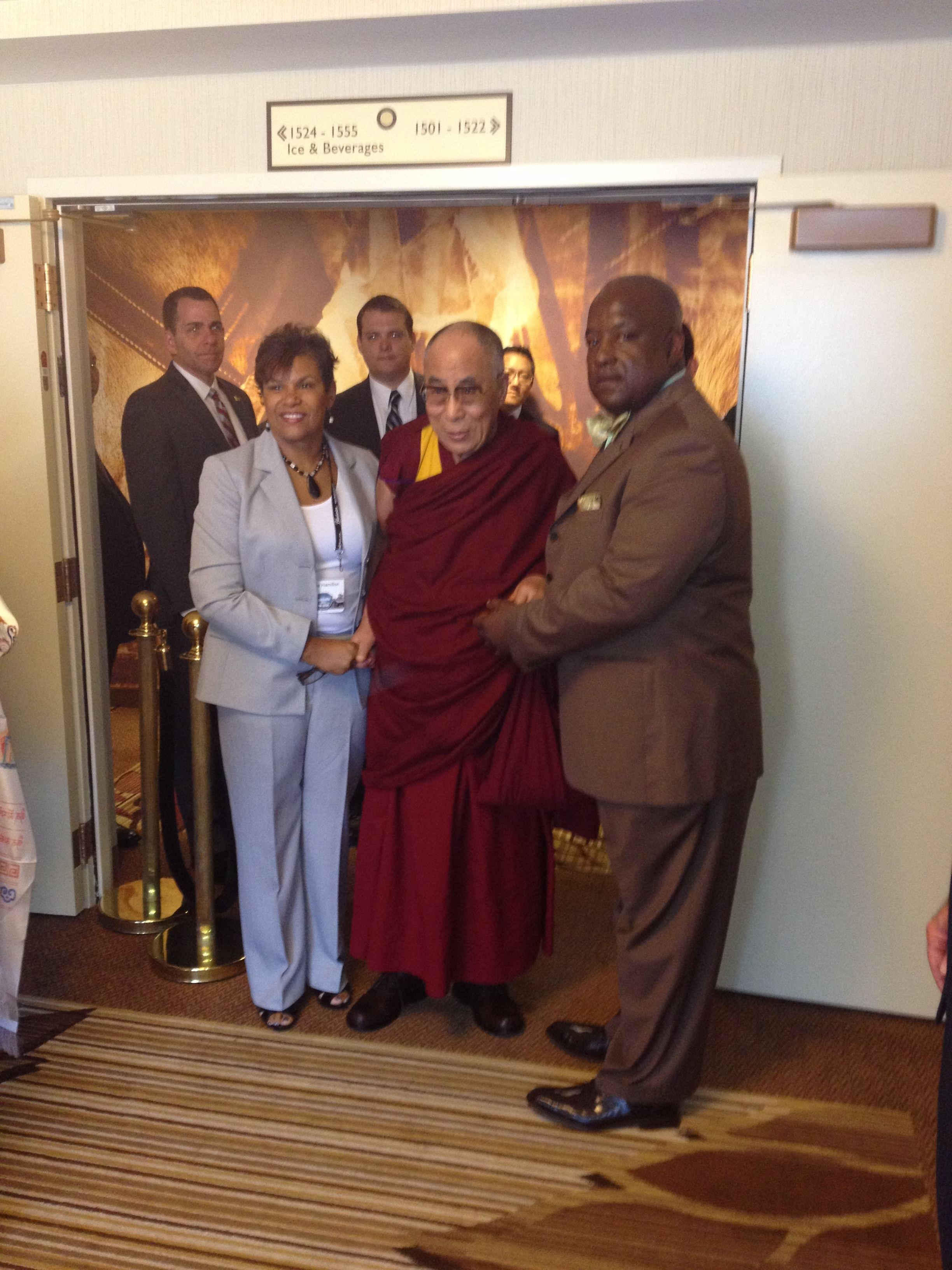 Our client Maize H. & Dalai Lama