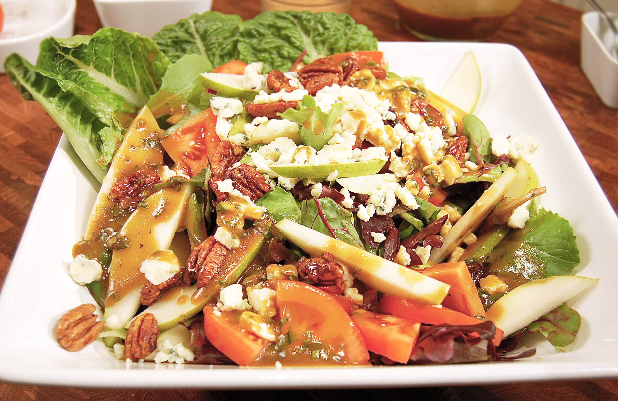 Pear + Gorgonzola Salad