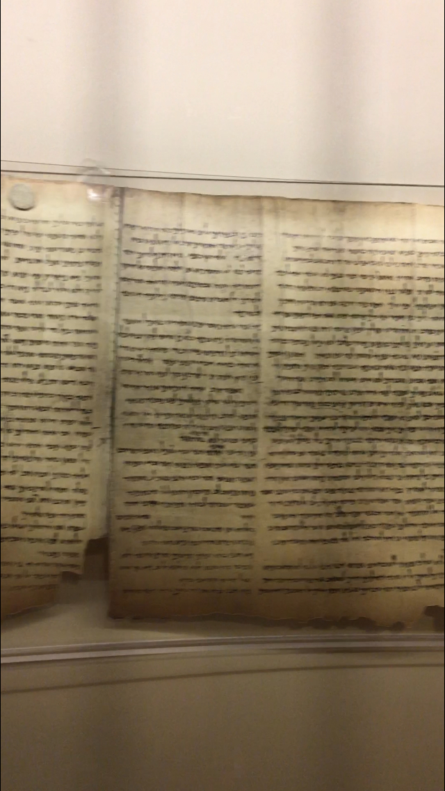 We even saw an original manuscript of the book of Isaiah from 100-150 BC.