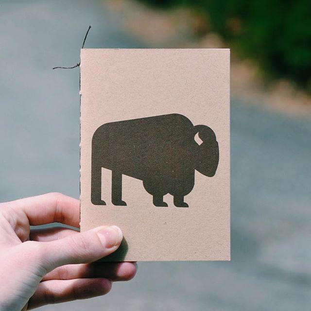 A little hand screened buffalo notebook. 🌲