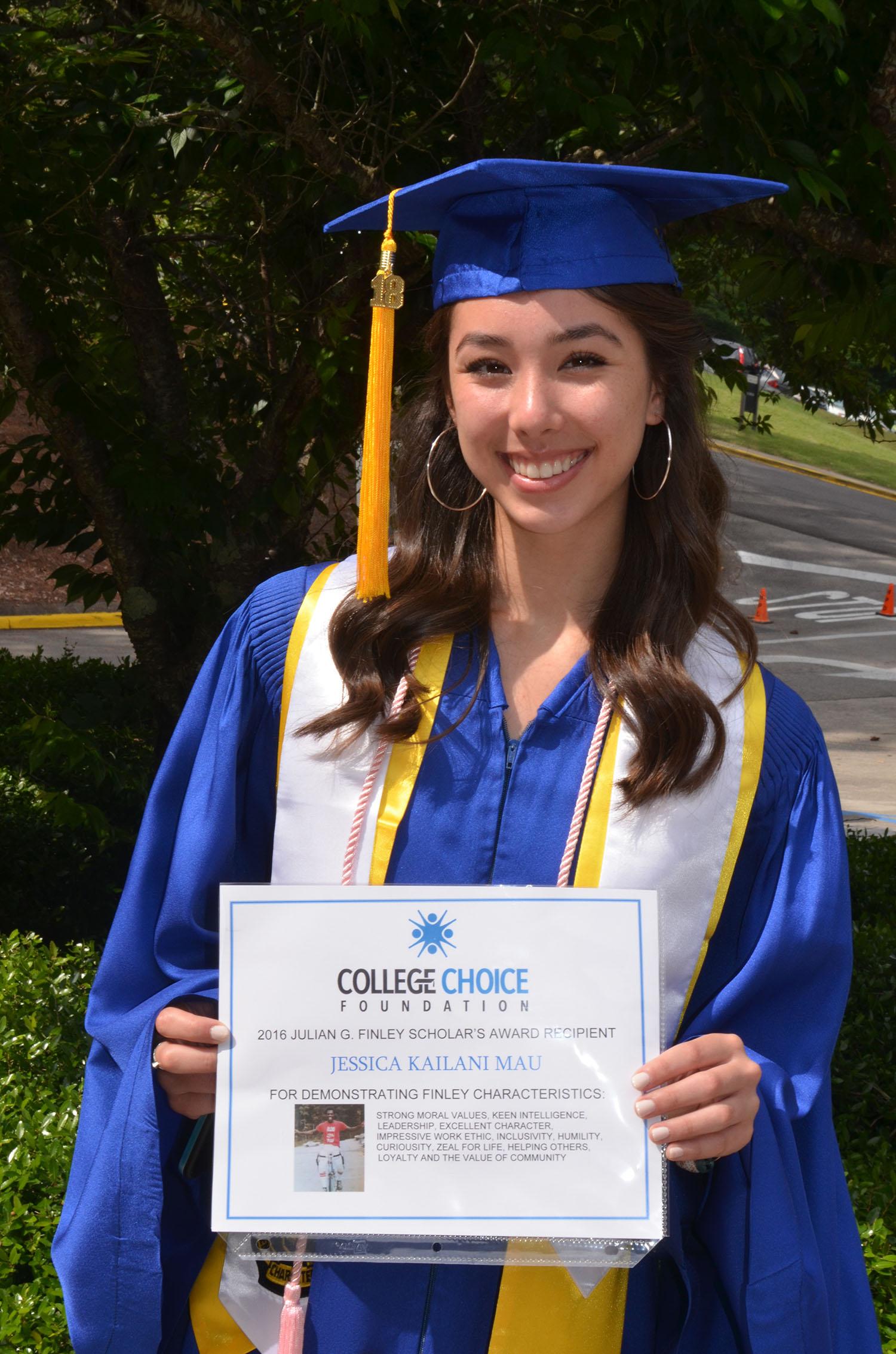 Jessica Mau 2018 Julian G. Finley Scholar's Award recipient College Choice Foundation.jpg