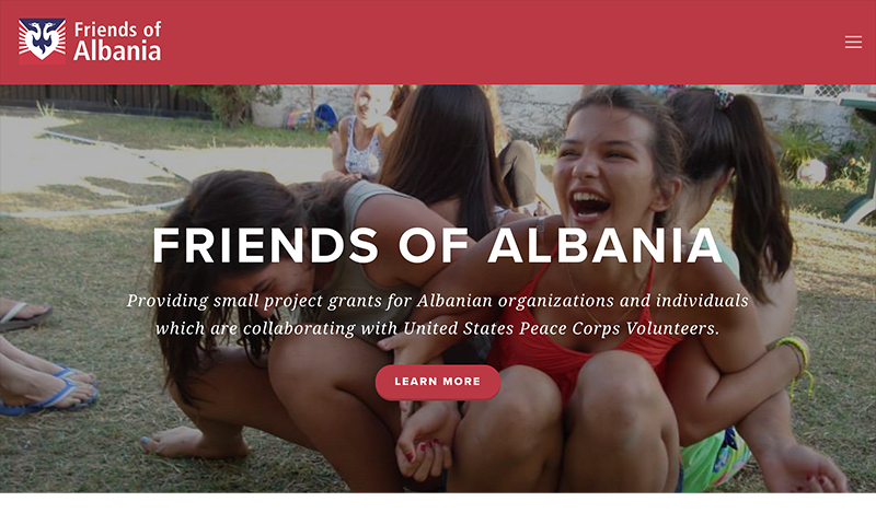Friends of Albania Non-Profit Website