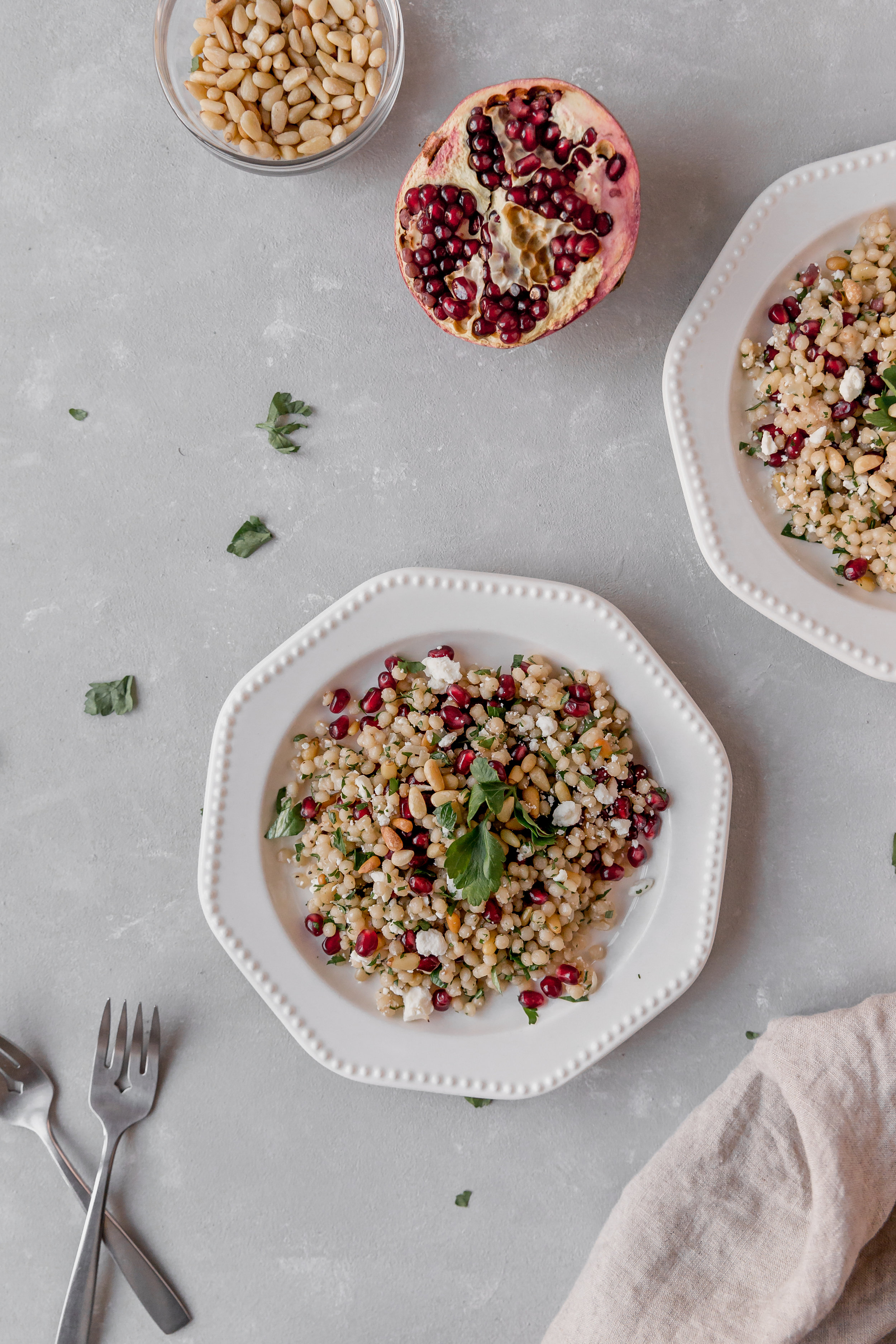 Couscous with Pine Nuts and Pomegranate || To Salt & See-4.jpg