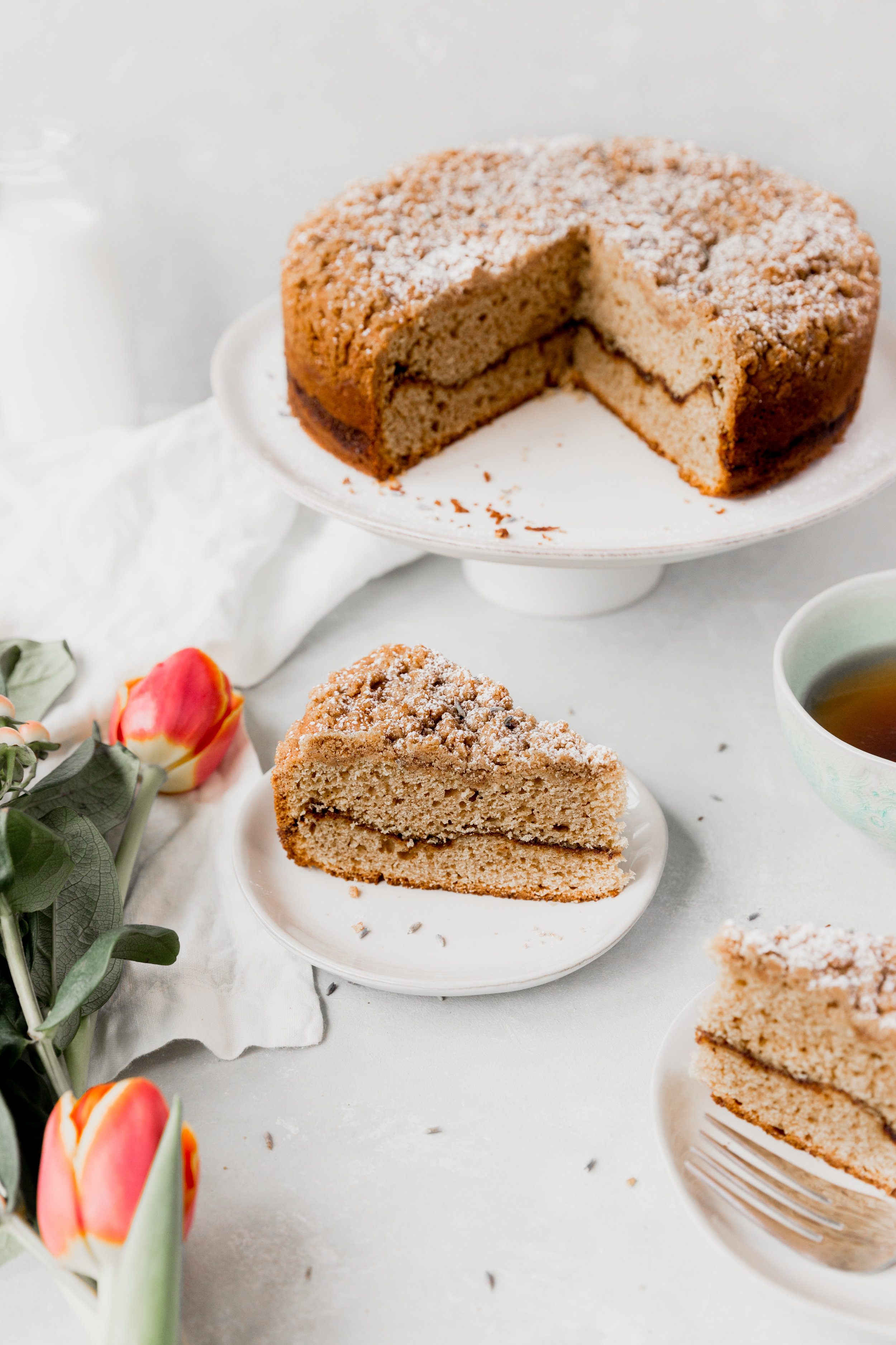 Earl Grey Lavender Coffe Cake || To Salt & See