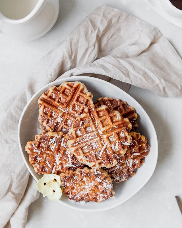 Happy first day of summer! ☀️ Currently dreaming about enjoying a cold young coconut 🥥 on the beach in Bali instead of the current reality of needing to go to the DMV twice on a rainy morning. But seriously, coconut is one of my favorite summertime flavors. And these ✨NEW ✨ Coconut Belgian Liège Waffles with a Coconut Cream Topping are perfect for a summer morning! Recipe just hit the blog! Link in bio! • • • • • #bakersofinstagram #feedfeed #bghfood #bakedfromscratch #todaybreakfast #food52 #TOHfoodie #rslove #f52digin #beautifulcuisines #mypinterest #f52grams #thebakefeed #imsomartha #tastingtable #kitchn #forthemaking #instayummy #foodstylist #heresmyfood #makeitdelicious #mywilliamssonoma #wsbakeclub #tosaltandsee