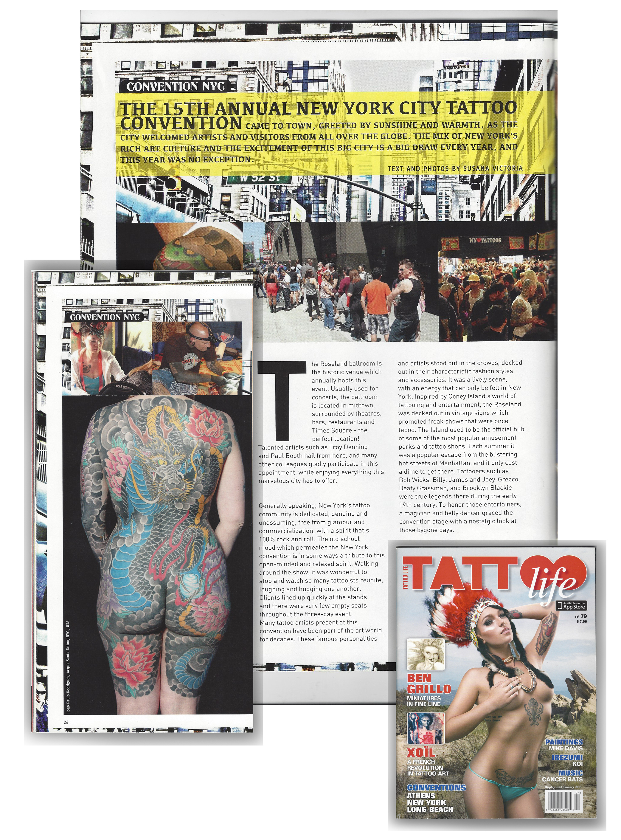 Featured in a Italian Magazine Tattoo Life with the 15th Annual NYC Tattoo Convention.