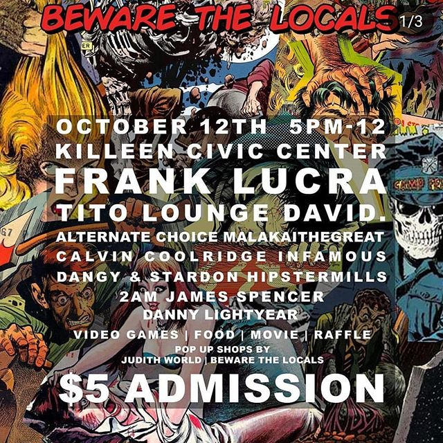 YOOOOO ! BTL ON GO IN 5 DAYS ! ! ! COME OUT AND SUPPORT THIS DIVERSE MIX OF TALENT FROM KILLEEN TEXAS!