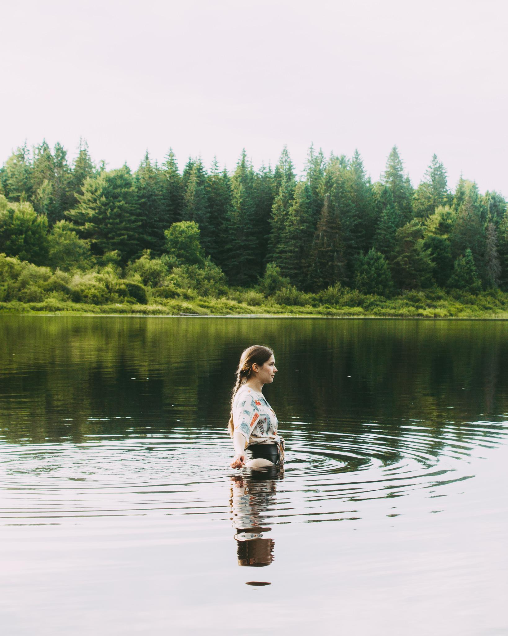 Swimming in Kearney Lake, Ontario