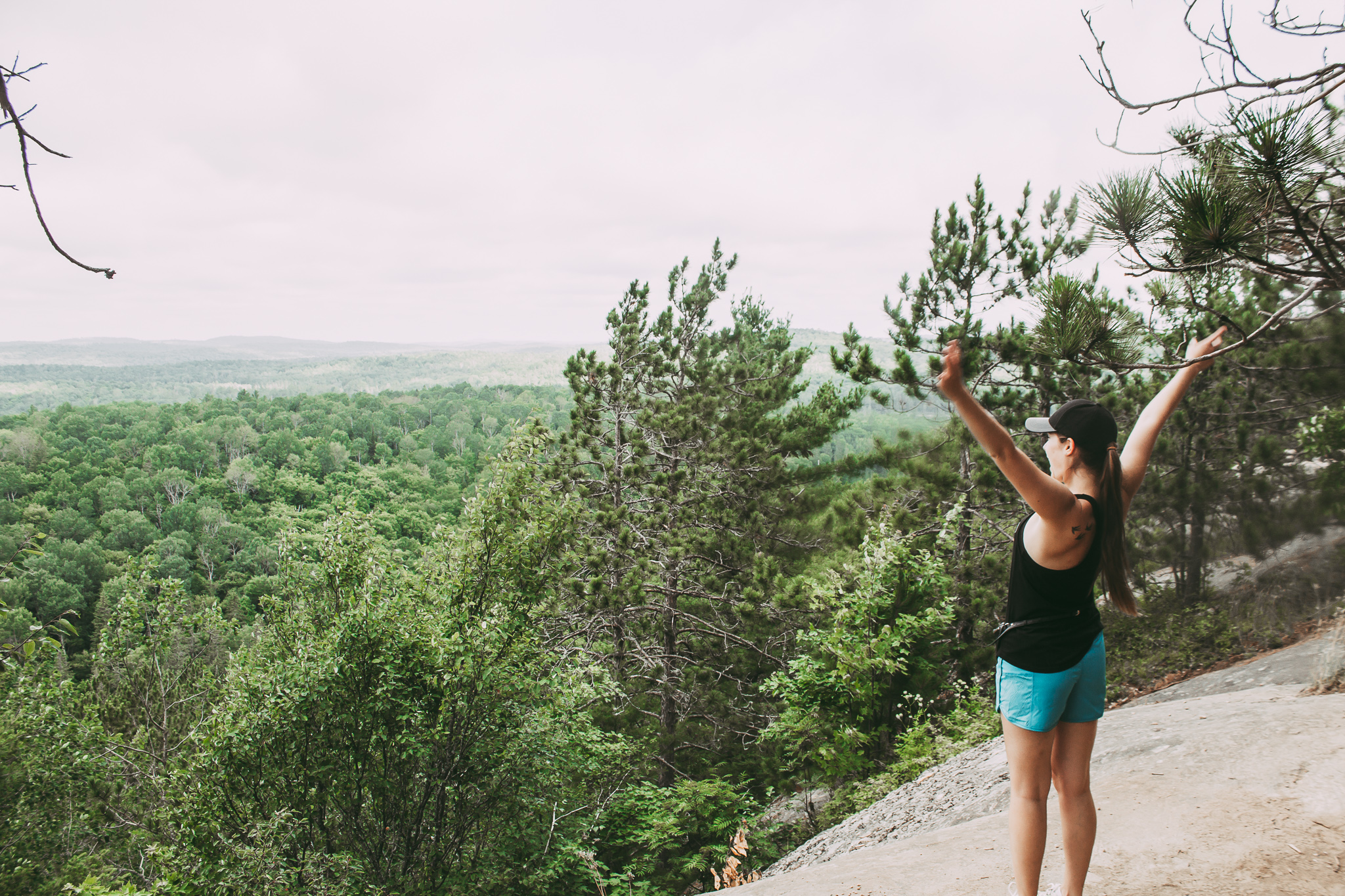 """Lookout"" hike in Algonquin Park"