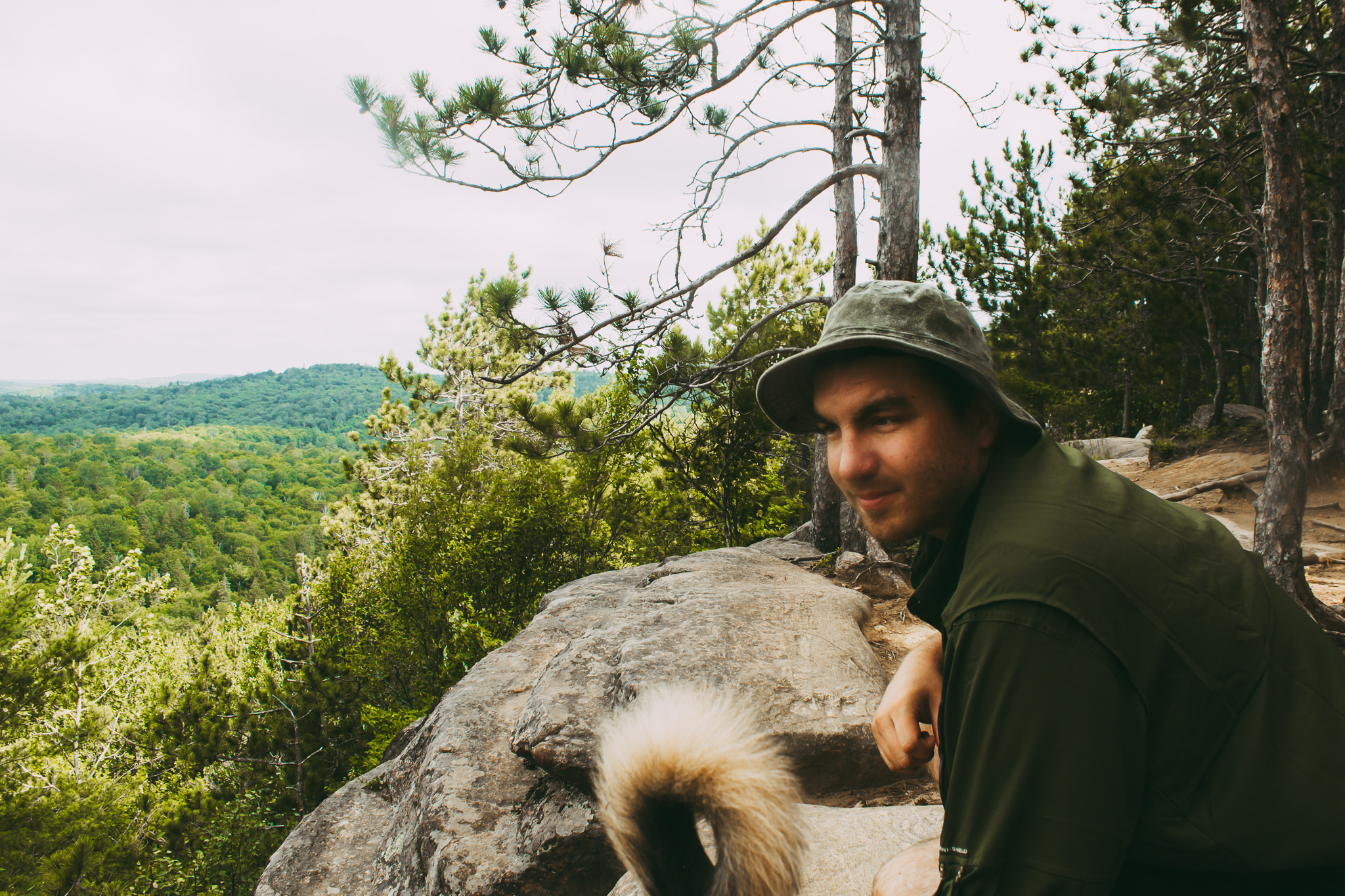 Lookout hike in Algonquin Park