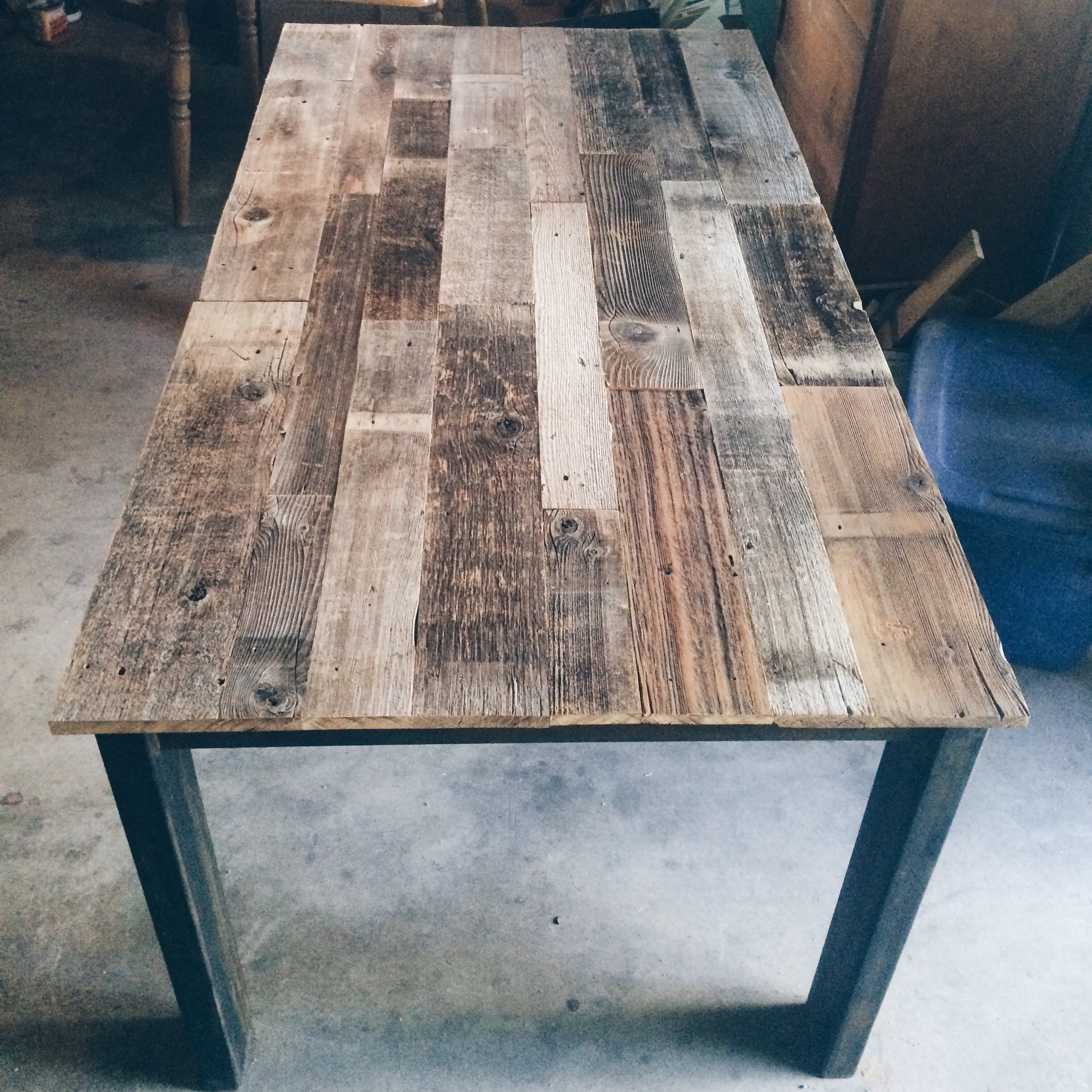 Industrial Dining Table Lovelylumber, Industrial Dining Room Table