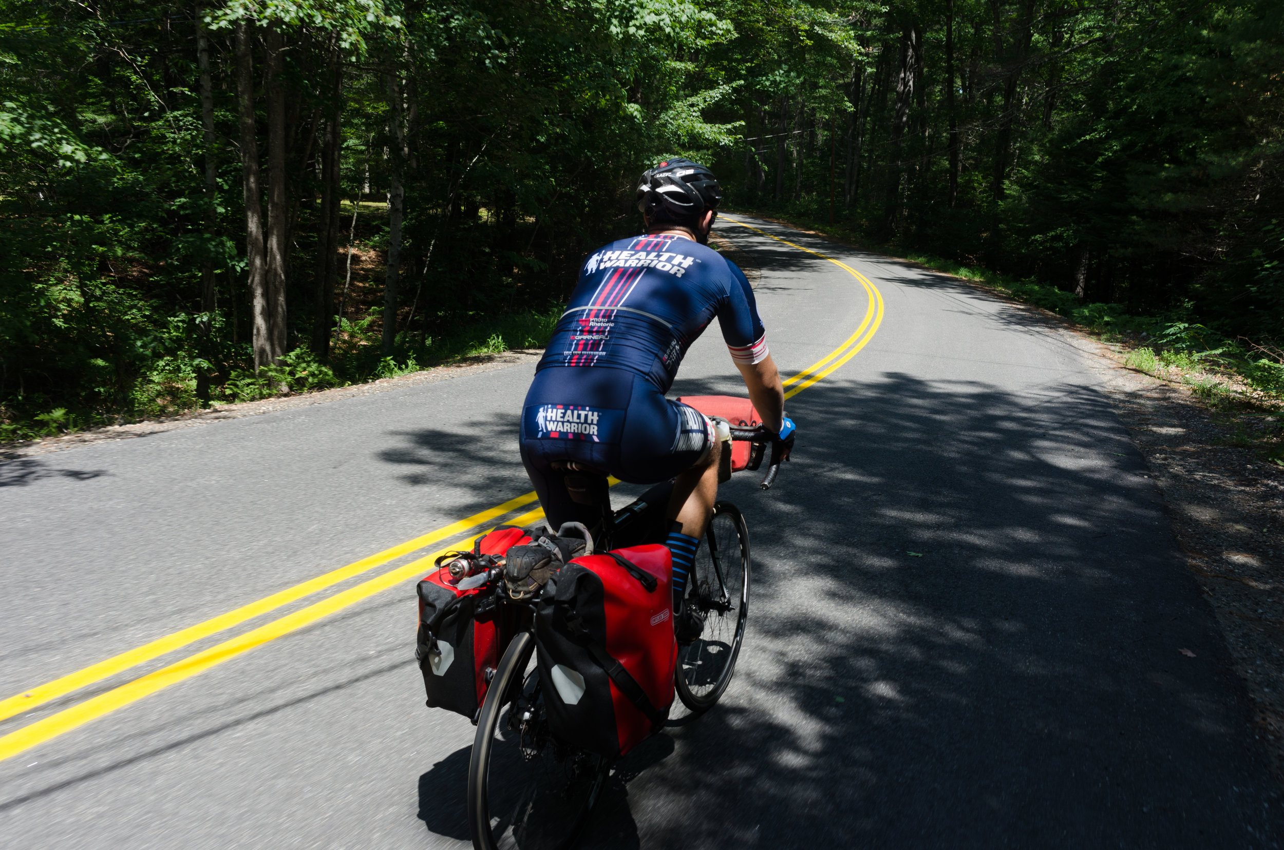 This forced us onto roads - extending our 80-90 mile days into 100+ mile days with much more climbing than our original route featured.