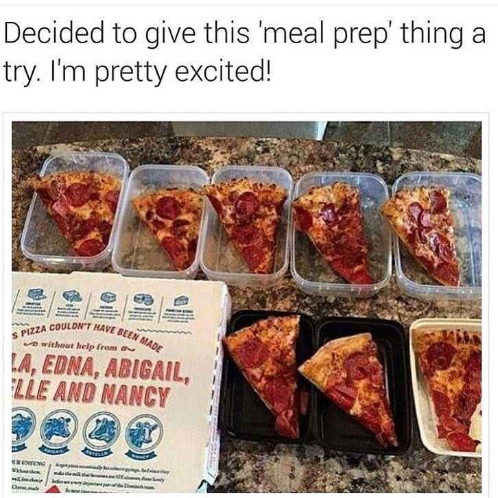 This is not the sort of meal preparation for cyclists we're talking about