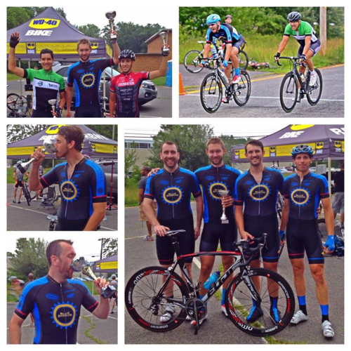 Zach Koop and team Blue Ribbon, who raised money in Zach's memory to fight cancer through Cycle for Survival.