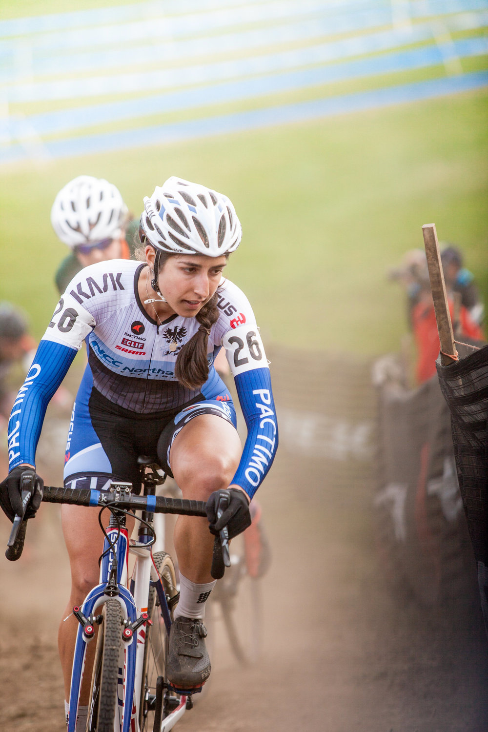 Natalie Tapias racing at the  Gran Prix of Gloucester 2015