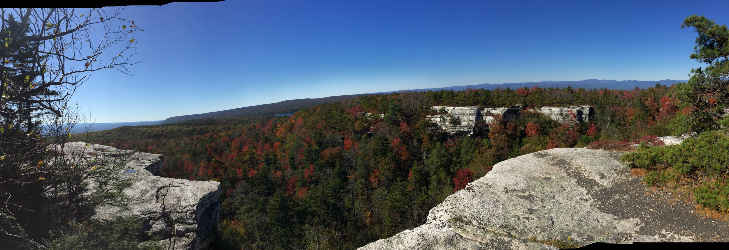 Gunks panorama to the Northwest