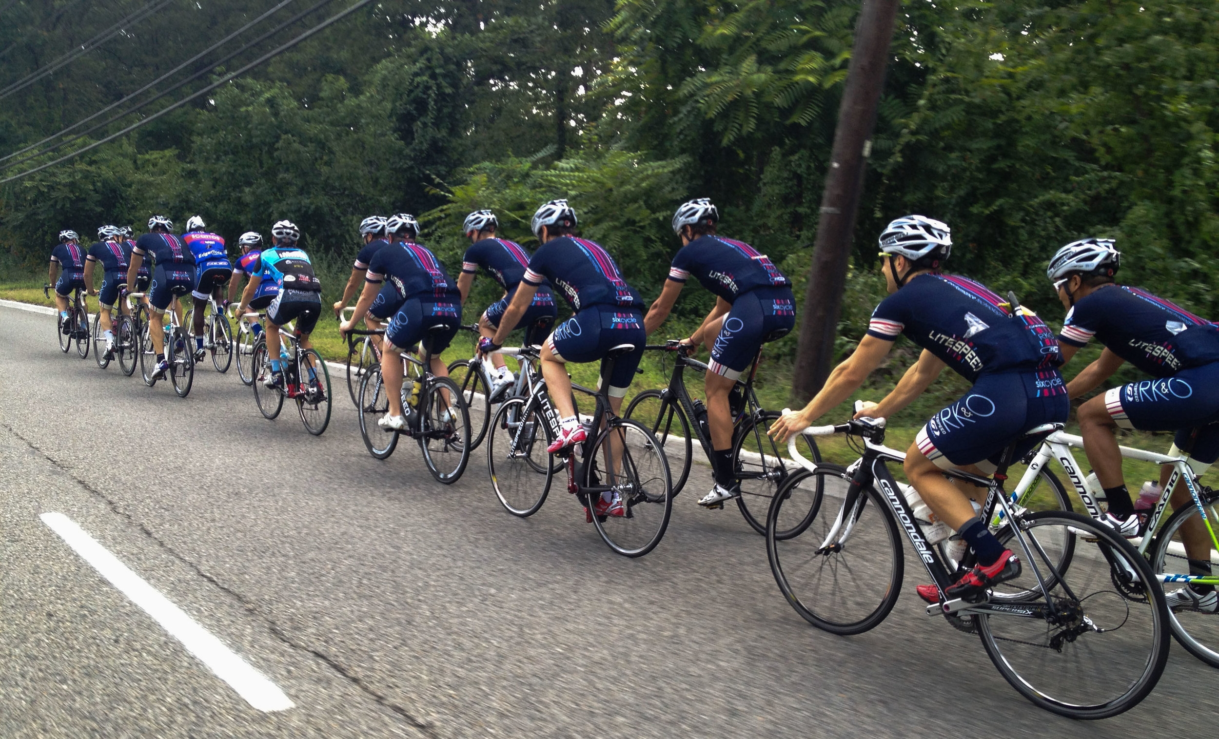 The squad rolling deep on 9W circa 2012 including a number of riders, including co-founders Charlie Bird and Matthew Richard, who have since left the sport or relocated to distant shores.