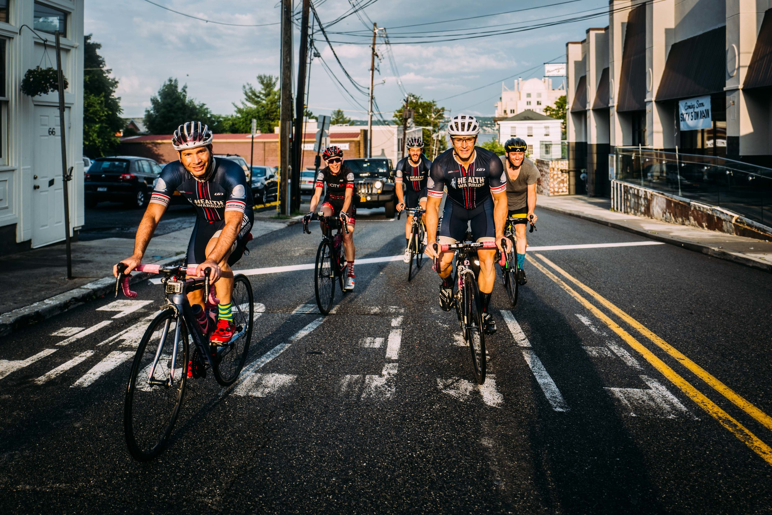 Fourth of July 2016 when the team, then known as Team Health Warrior,  headed into the woods for a weekend of bikepacking, bourbon and plenty of laughs . Mat Street (center) has since relocated across the Atlantic to his homeland in the UK.