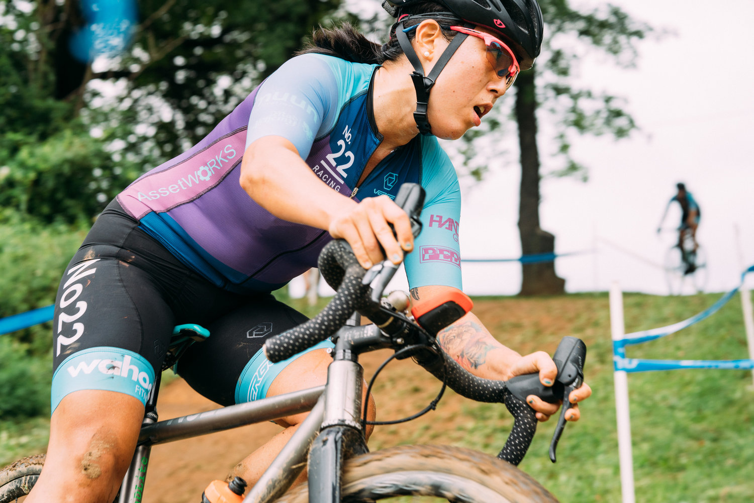 """Lucia racing at Nittany Lion Cyclocross 2018, from  """"Nittany Lion Cyclocross: Everything and Nothing"""""""
