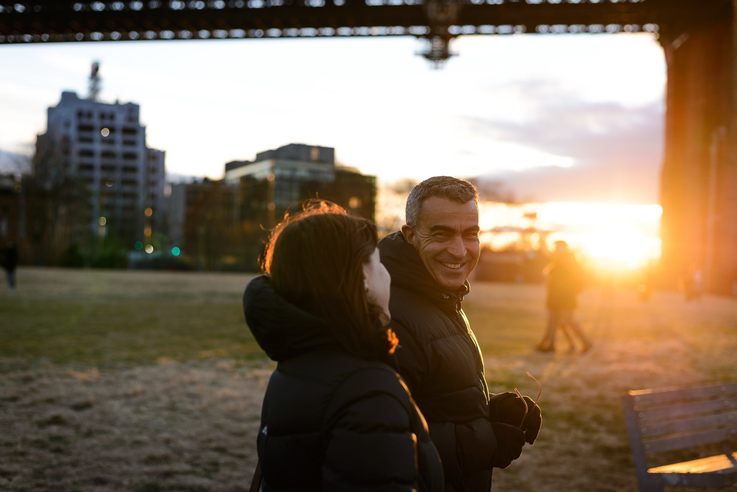 Nikon D610, Nikkor 50 1.8G, 1/320, ISO-100. Mum and Dad on their recent trip to NYC.