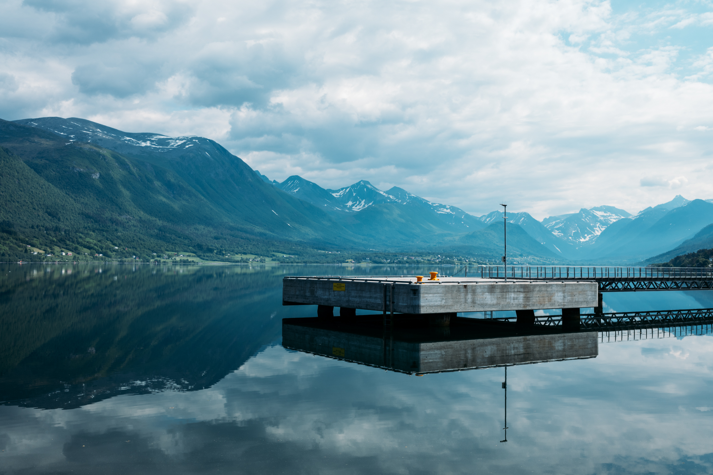 A quiet afternoon in Andalsnes - yes we went for swim to test the water.