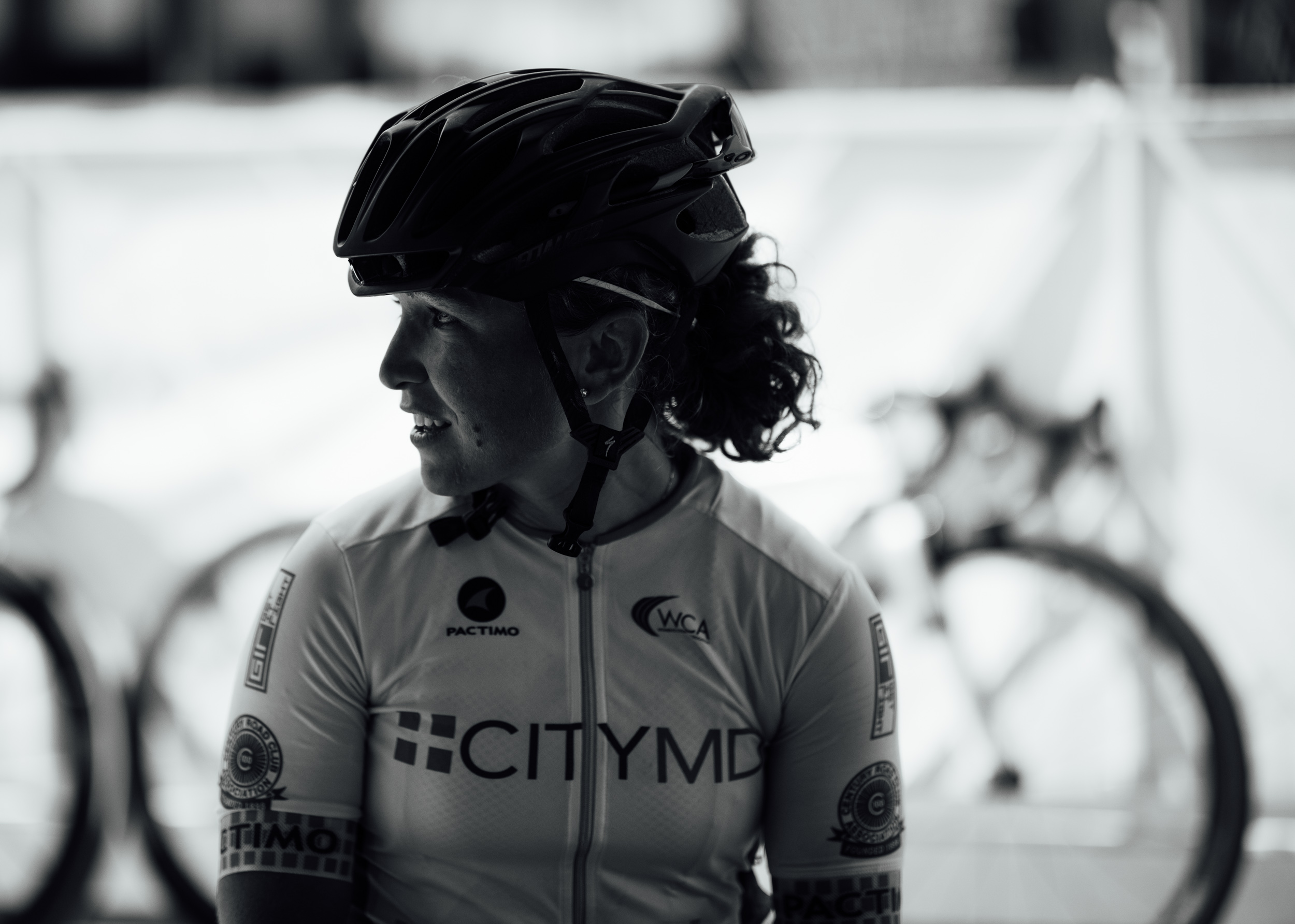 One of our trio of announcers, Stephanie Kaplan, from  our earlier interview with her on the bike industry.