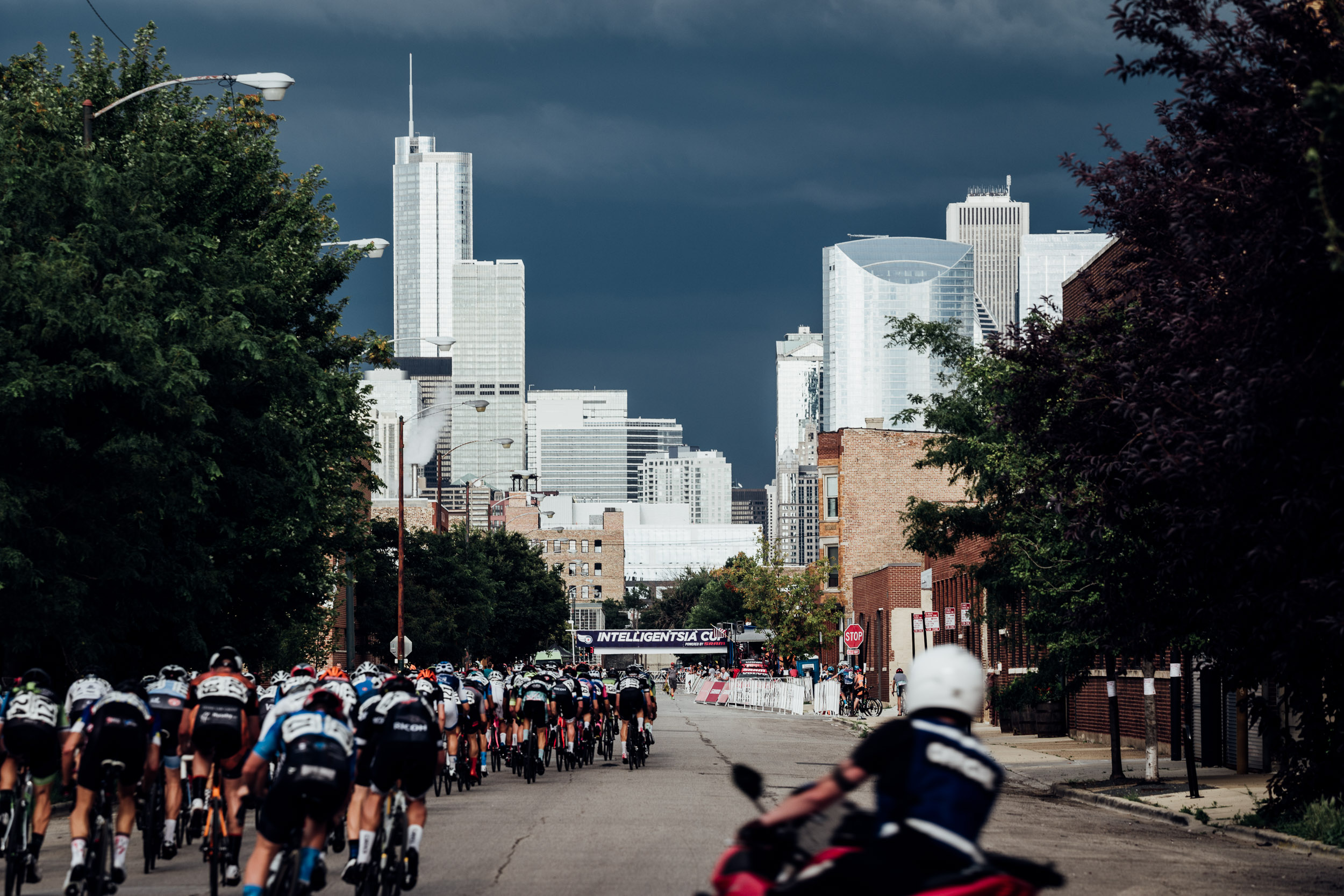 Those dark clouds on the horizon? They're representative of the challenges the sport. (the actual photo is from our  Intelligentsia Cup feature )