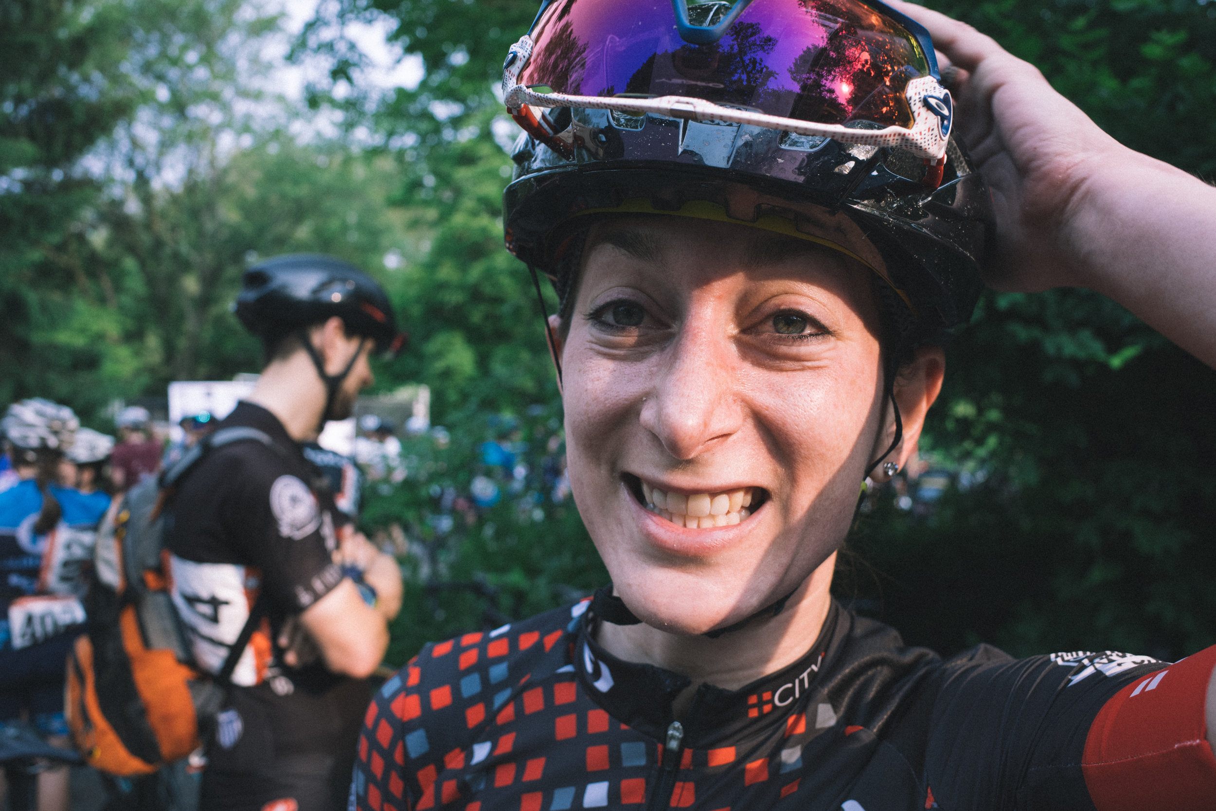 Lisa, who is immensely better at bikes than I am