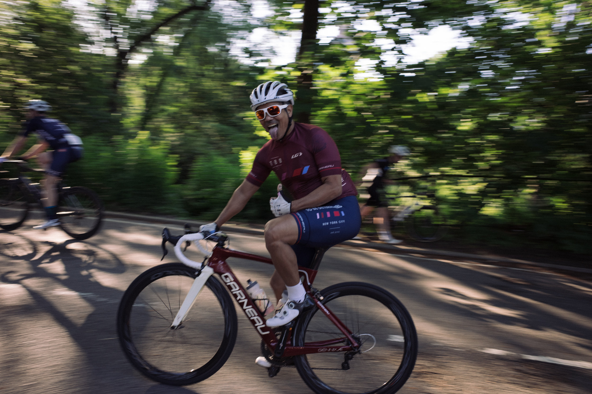 JB feeling stoked on finishing off a good day of racing in Central Park.