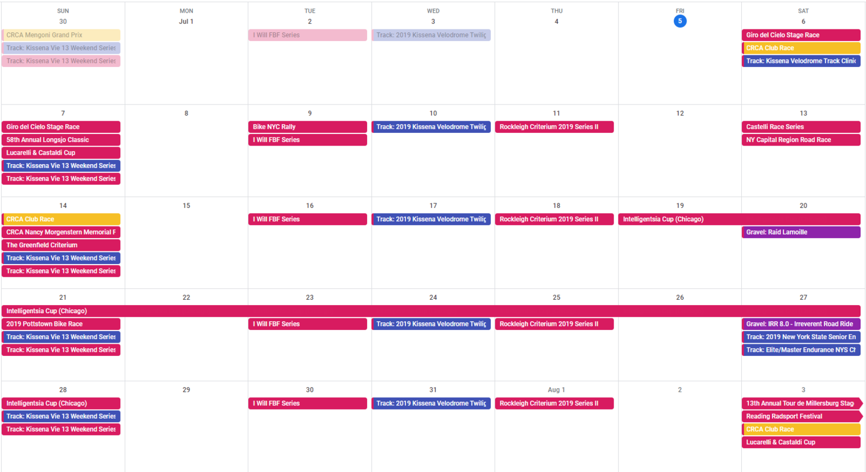Race Calendar.Tbd Race Calendar July 2019 To Be Determined Journal