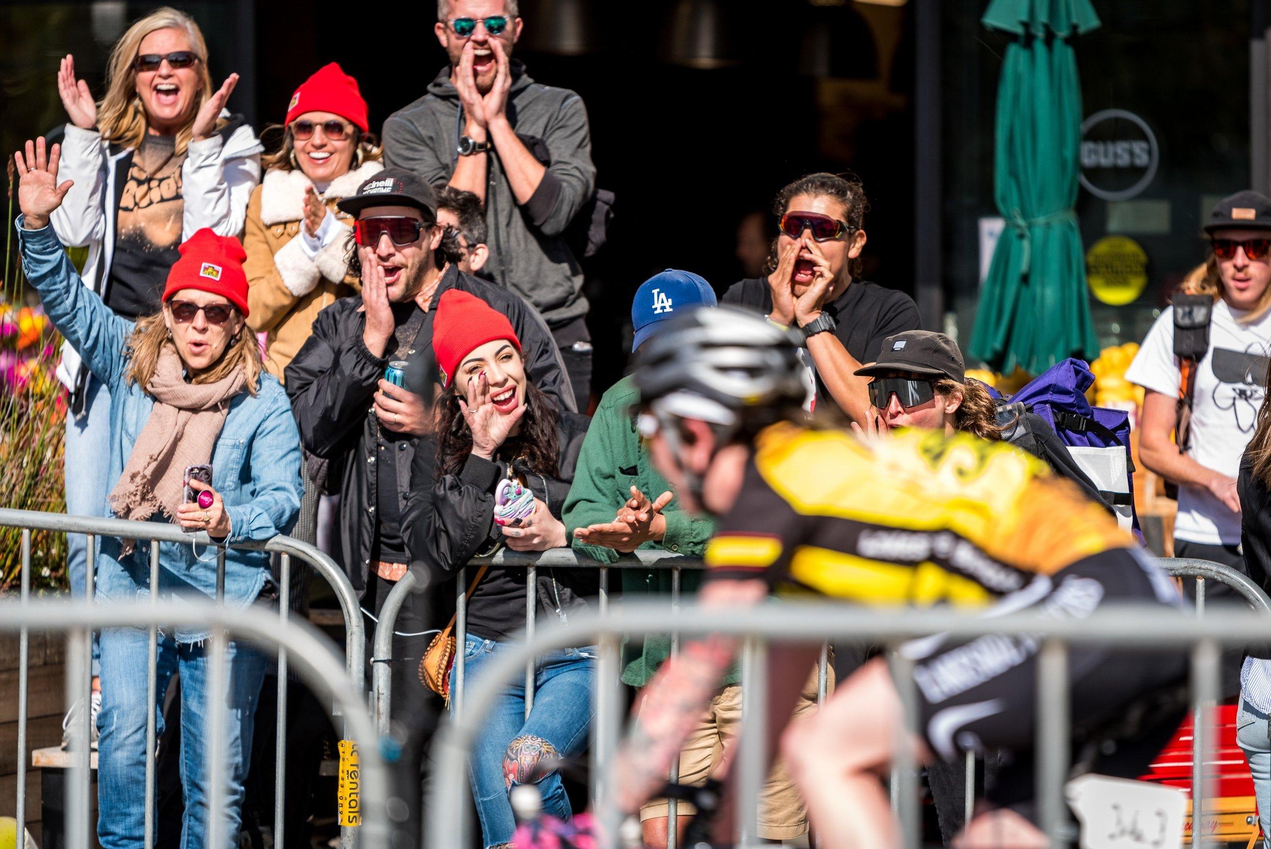 Sydney's cheer section. Photo  credit: Jeff Vander Stucken