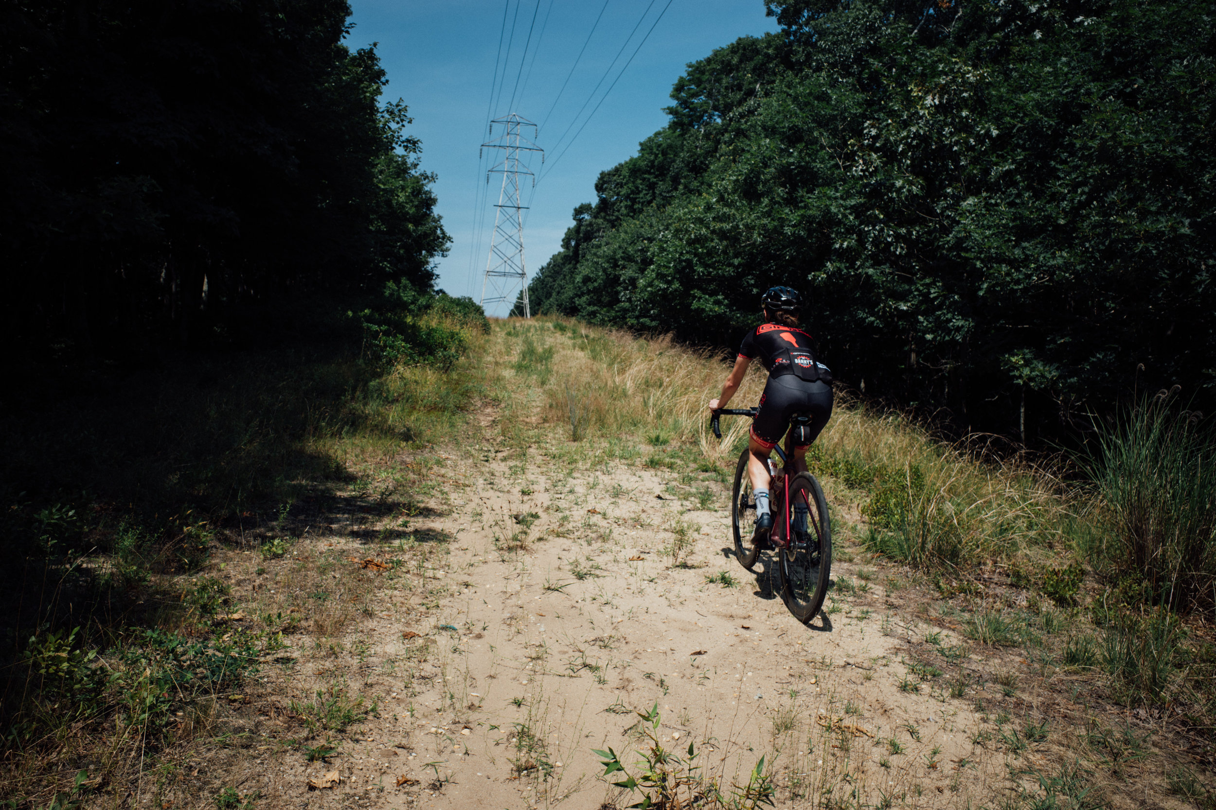 A favorite past time: getting lost on road bikes while riding 'trails' in the Hamptons.