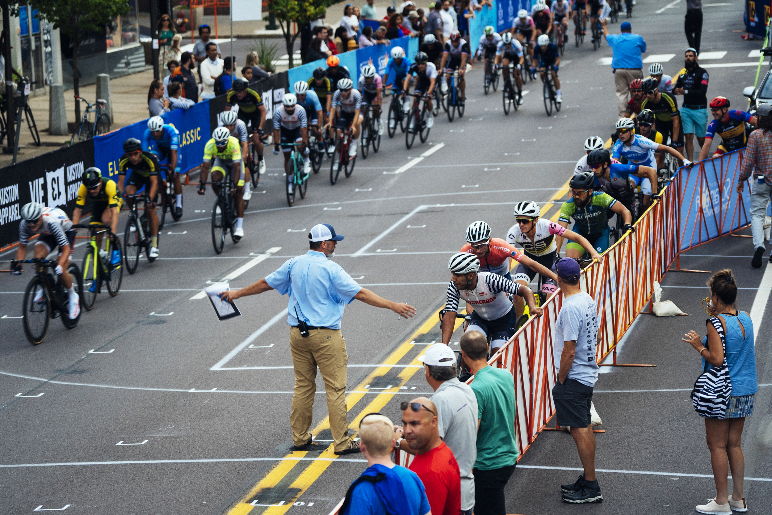 A late race pileup in the Pro Men's field made for an exciting final few laps in the peloton