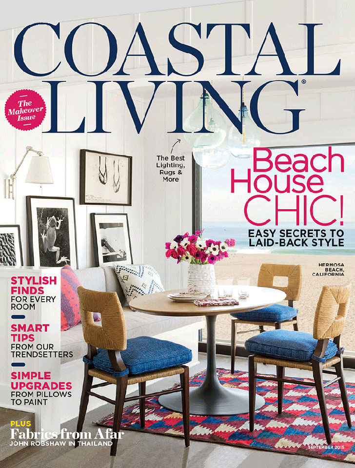 "Coastal Living featured Tim Barber Ltd. Architecture's Beach House Renovation as their cover story, ""Window of Opportunity"" (September 2015)."