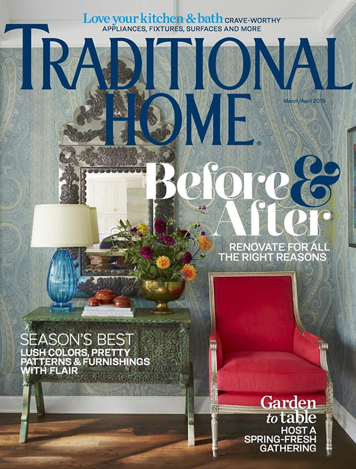 "Los Angeles architecture firm Tim Barber Ltd.'s addition to and renovation of a 1930s Spanish Revival residence is the focus of Jenny Bradley Pfeffer and Darra Baker's article, ""Lost & Found"", which appears in the March/April 2019 issue of Traditional Home."