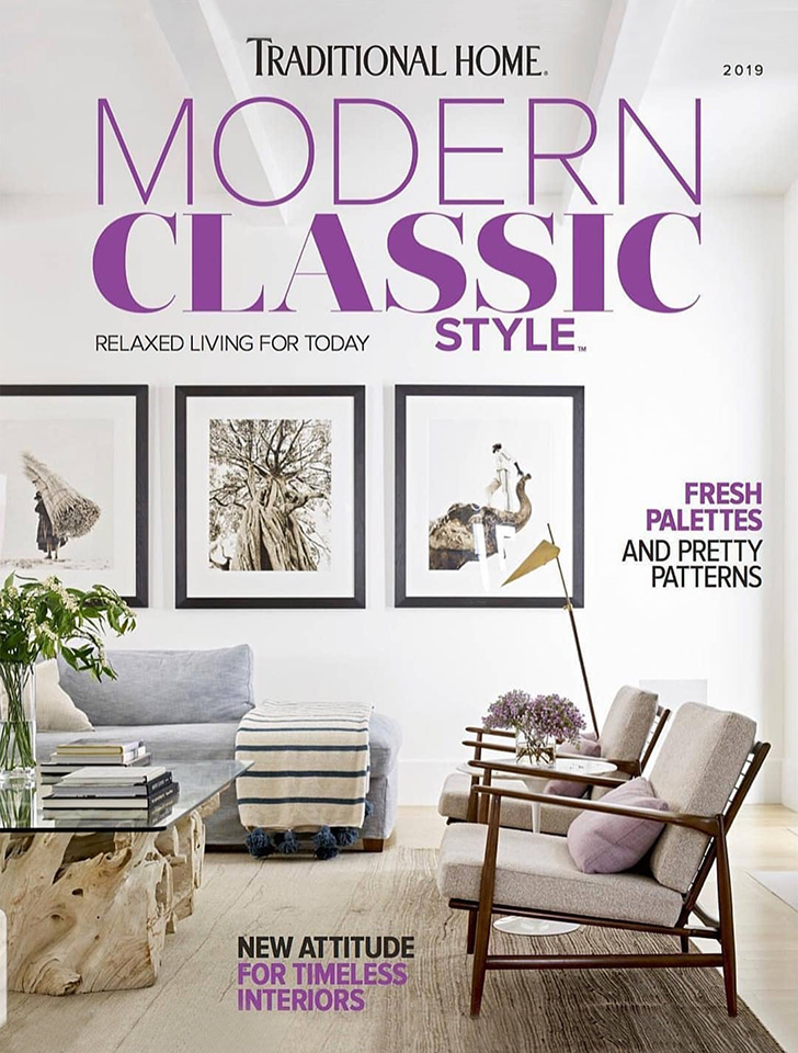 Traditional Home featured our collaboration with interior design team Nickey Kehoe in their 2019 Modern Classic bookazine.