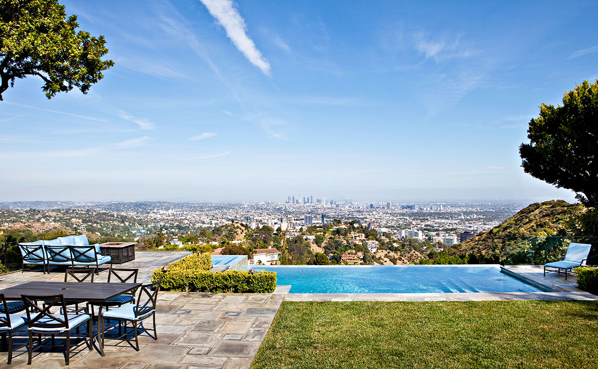 View of Los Angeles From the Patio