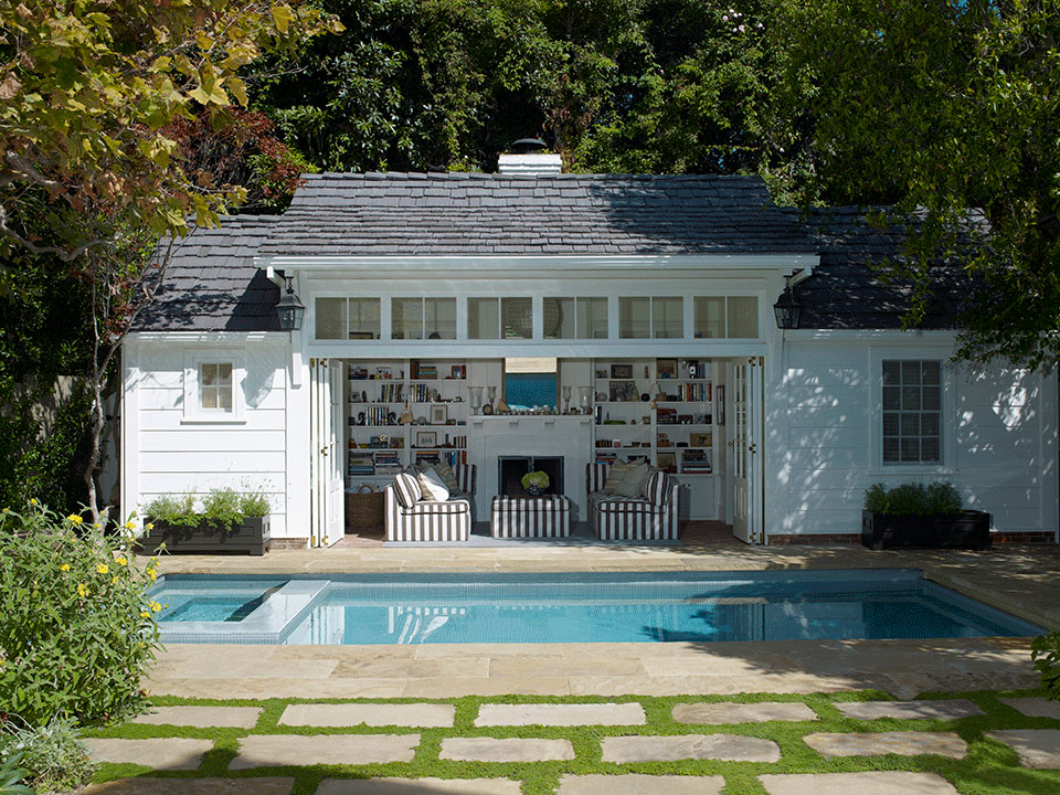 Pool and Guest House in Brentwood