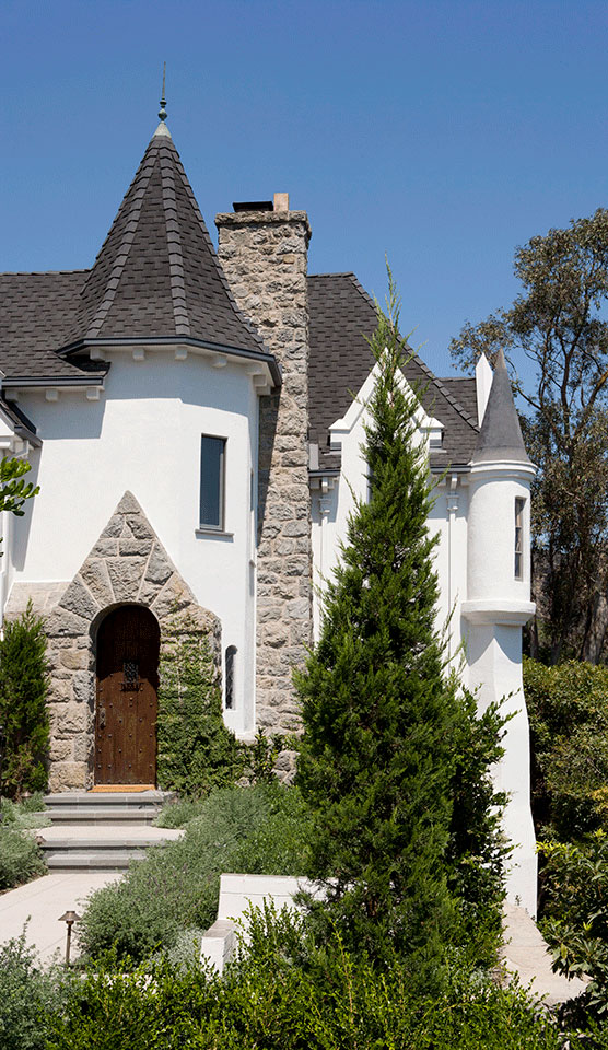 "French Normandy Revival ""Wolf's Lair"" Residence in Hollywood"